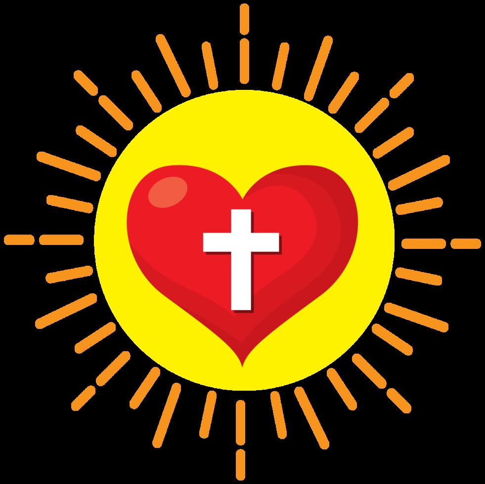 explosión del sol sagrado corazón png