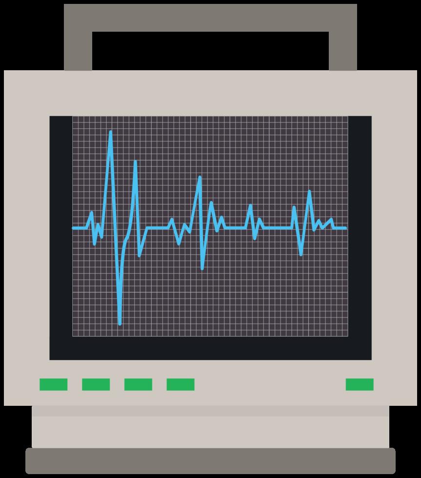 monitor del cuore png