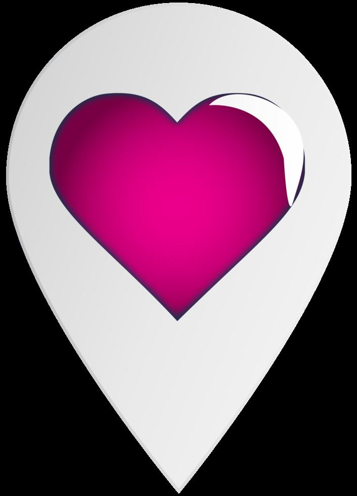 puntatore di cuore png