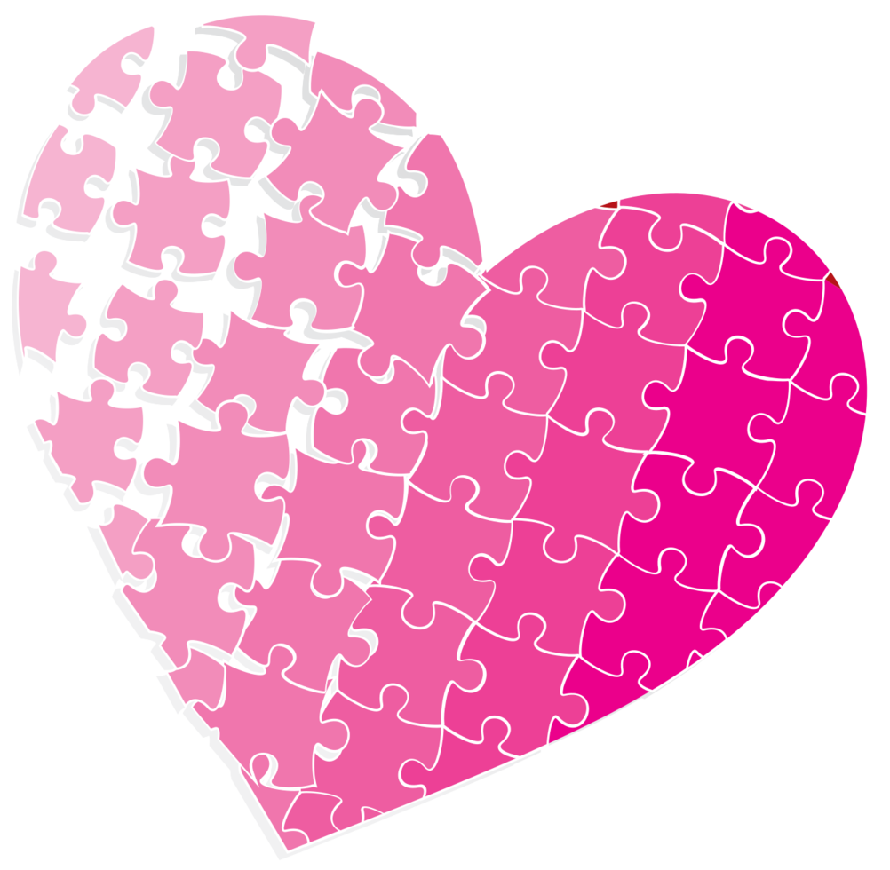 Heart puzzle png