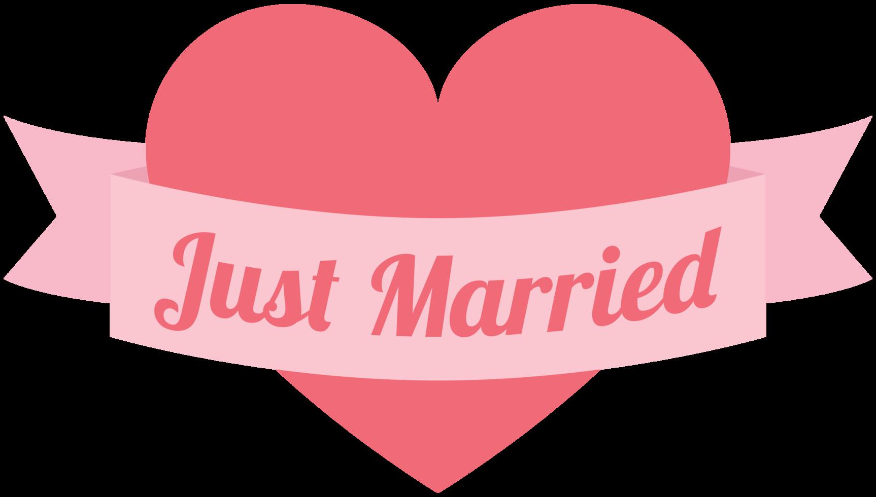 coeur vient de se marier png
