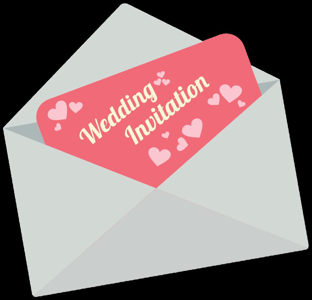 invitación de boda del corazón png