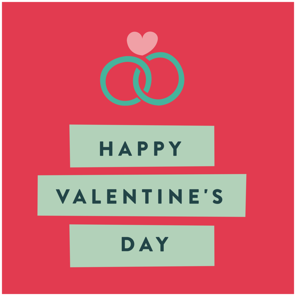 Heart valentines's card png