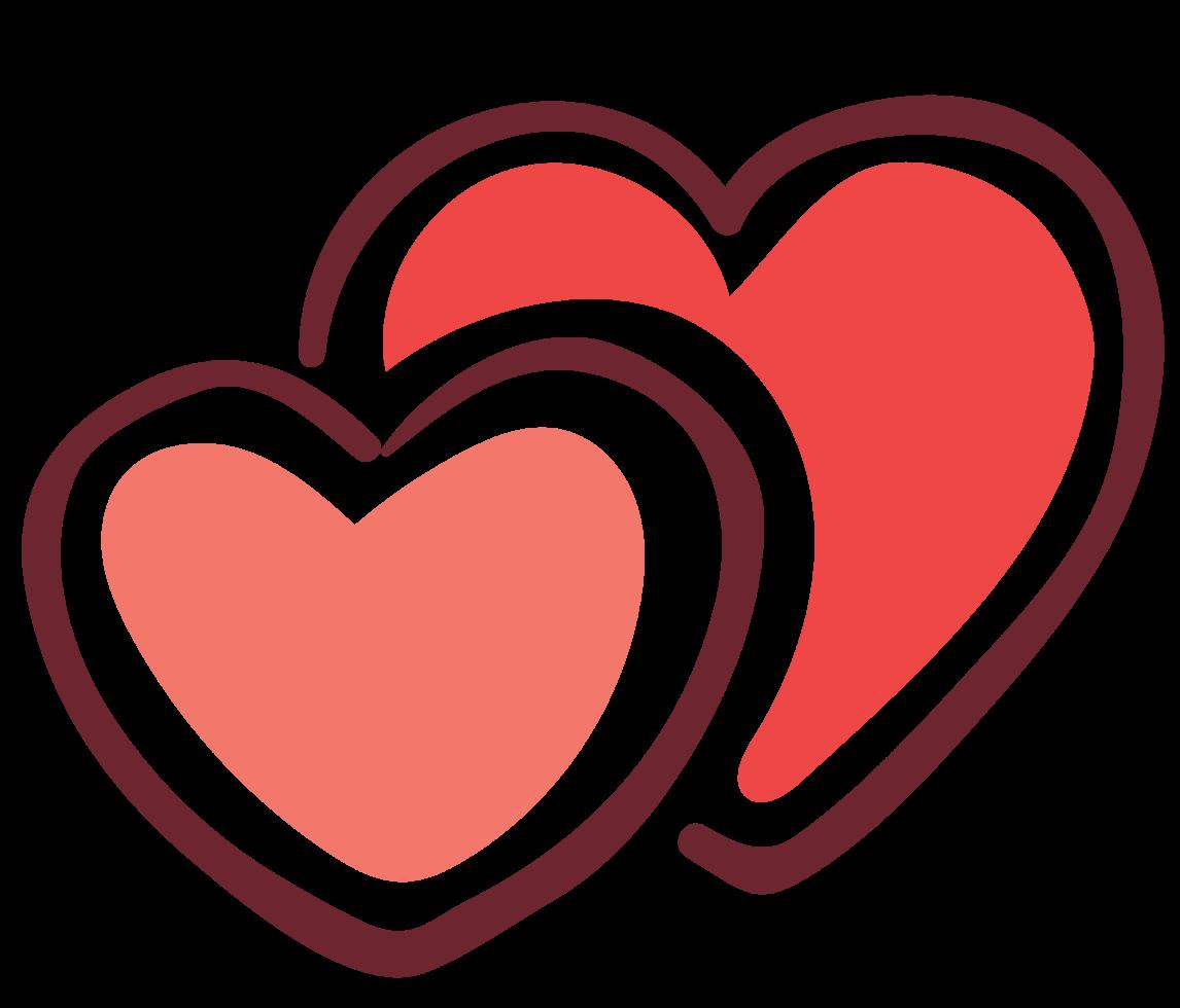 pareja de corazones png