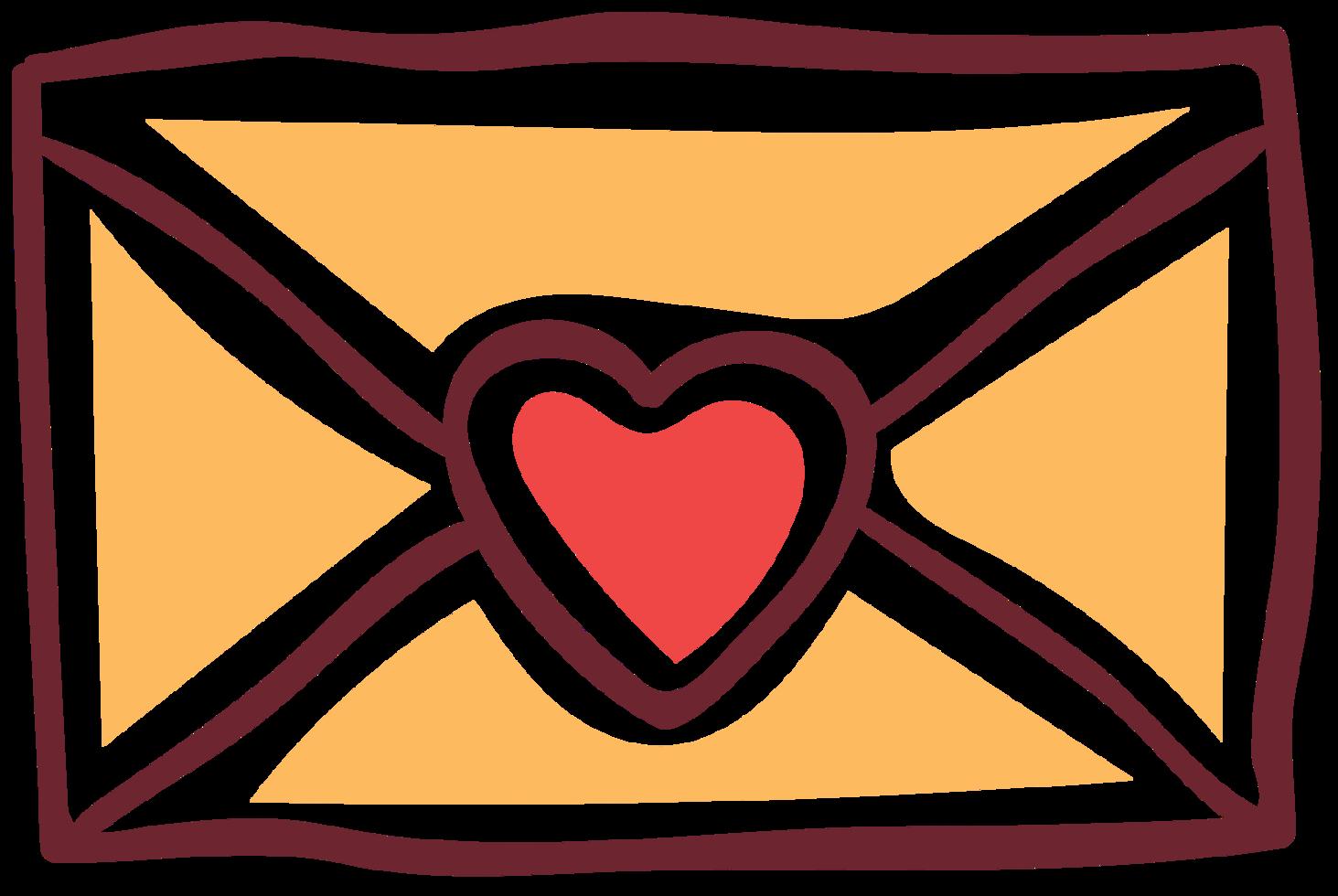 carta do coração png