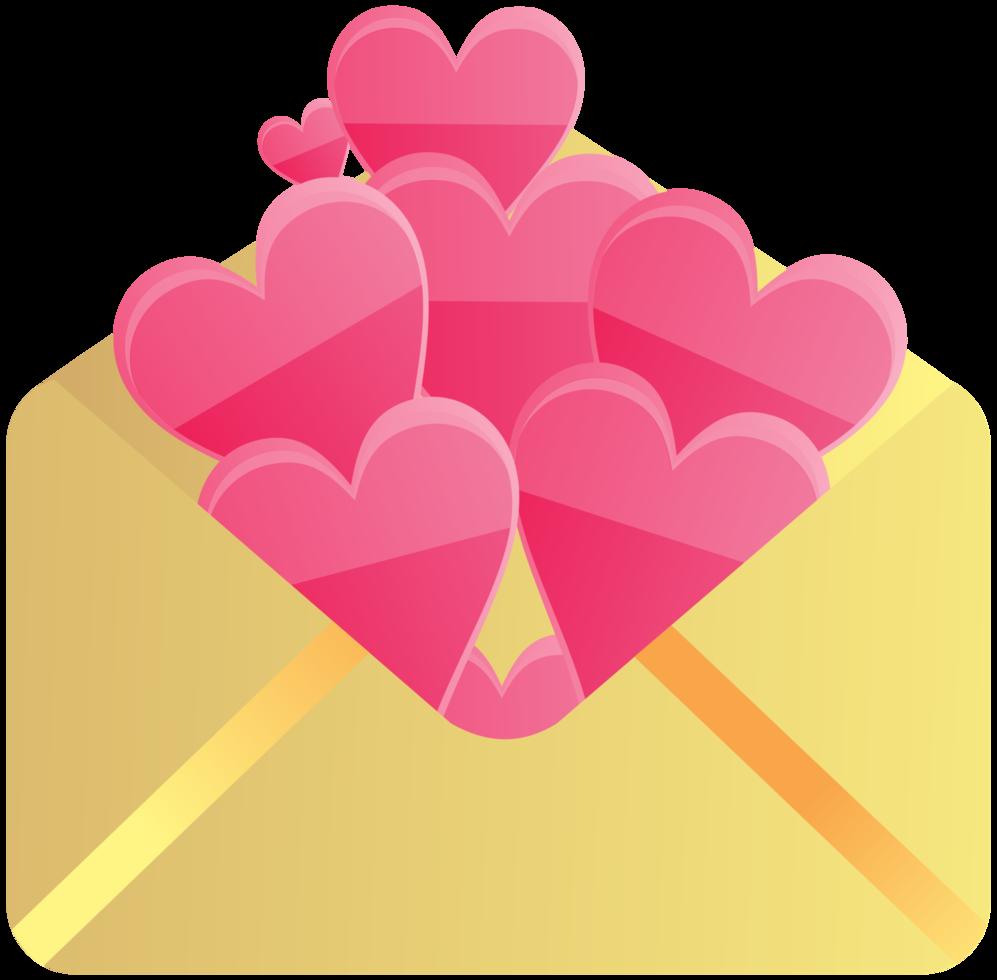 Envelope of heart png