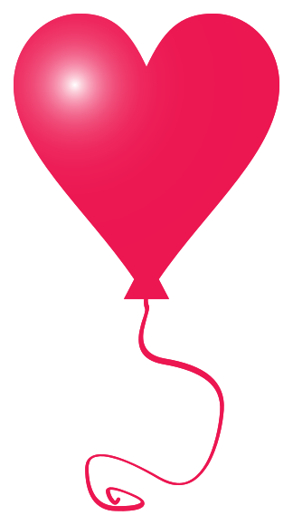 Heart baloon png