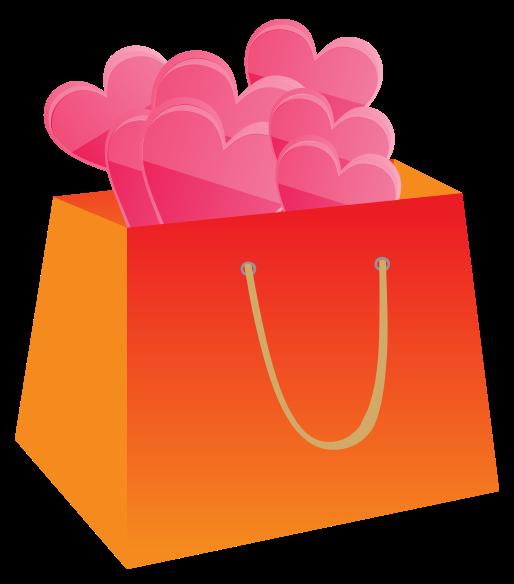 sacola de compras coração png