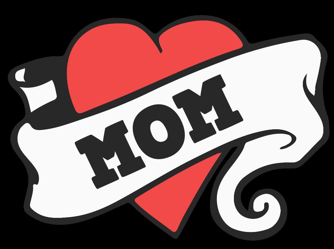 corazón mamá tatttoo png