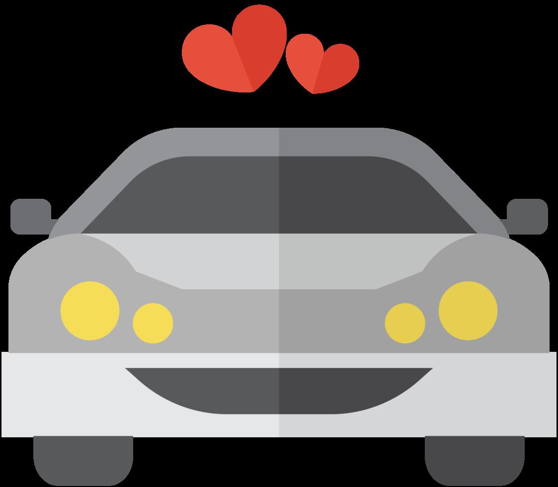 carro de casamento coração png