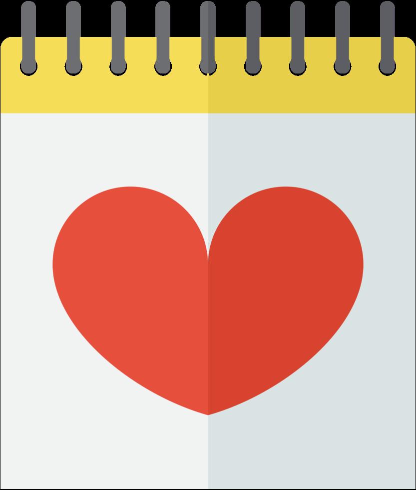 Herz Hochzeitskalender png