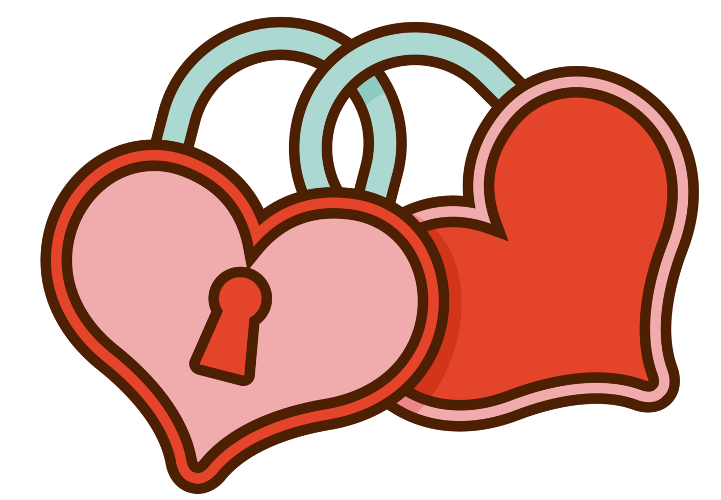 hjärta bröllop låst png