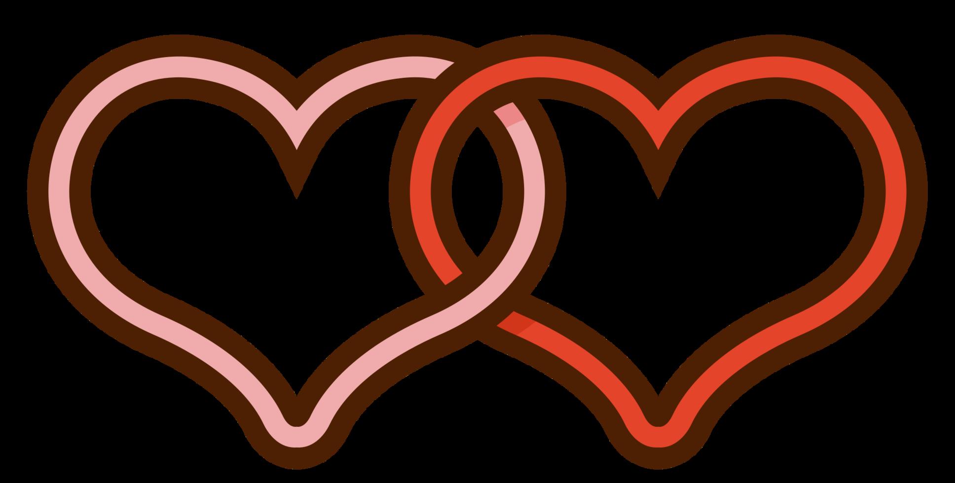 casal casamento do coração png