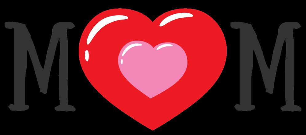 tatuaje de mamá de corazón png