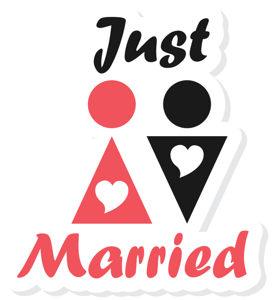 Heart just married png