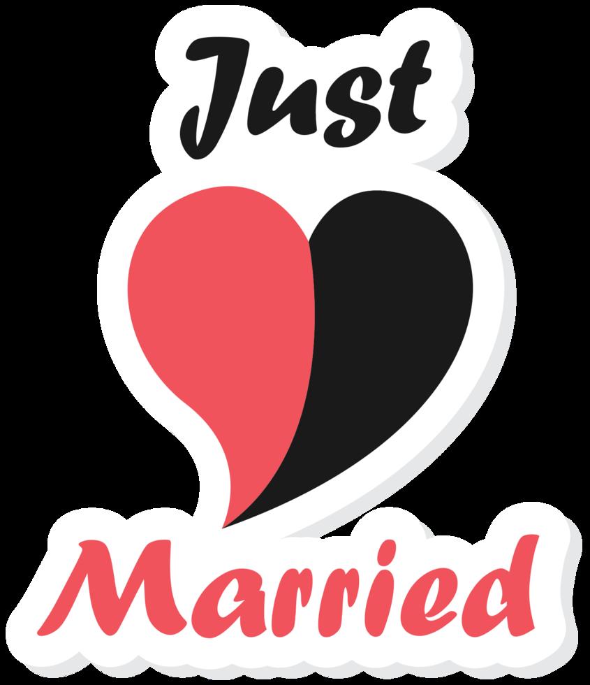 Herz gerade verheiratet png