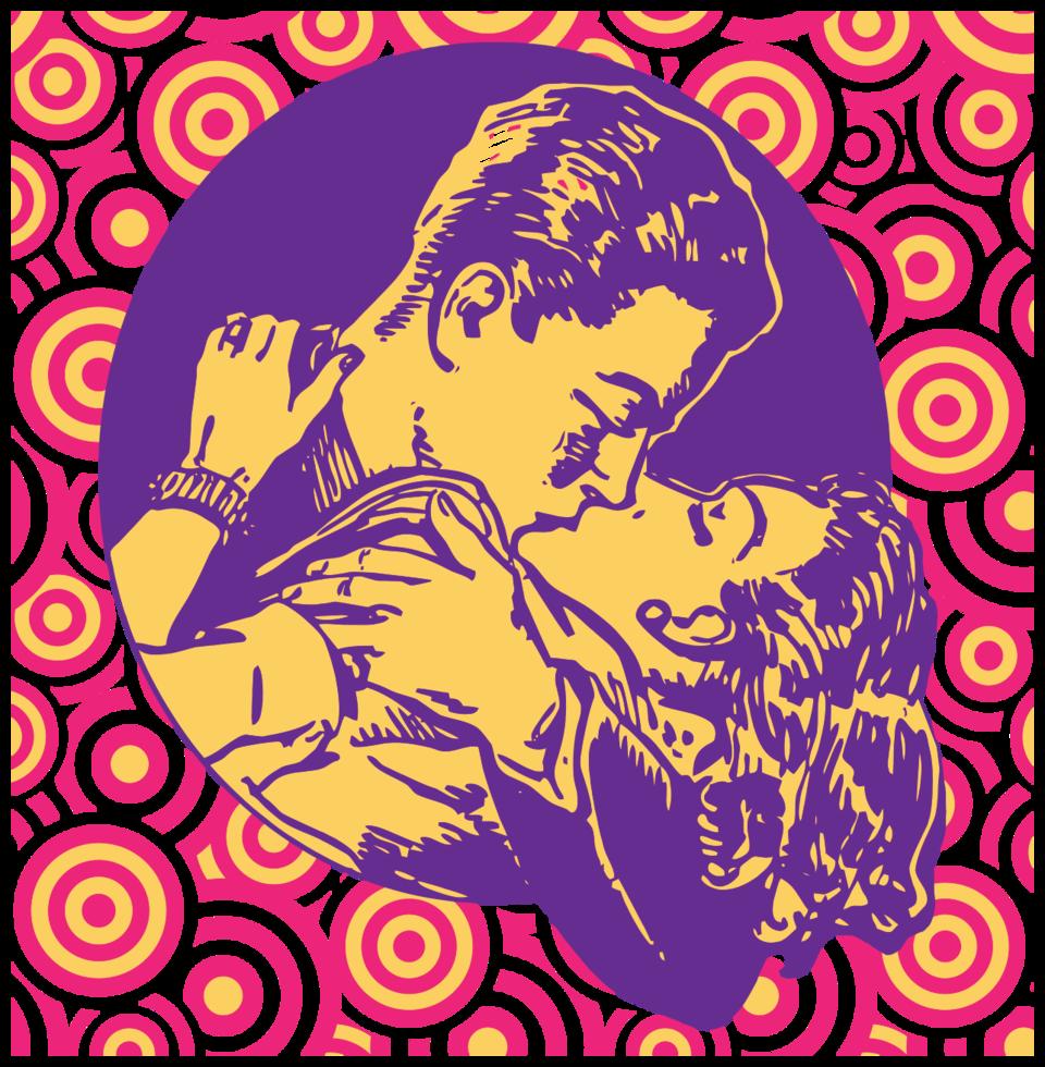 kussend paar in liefde png