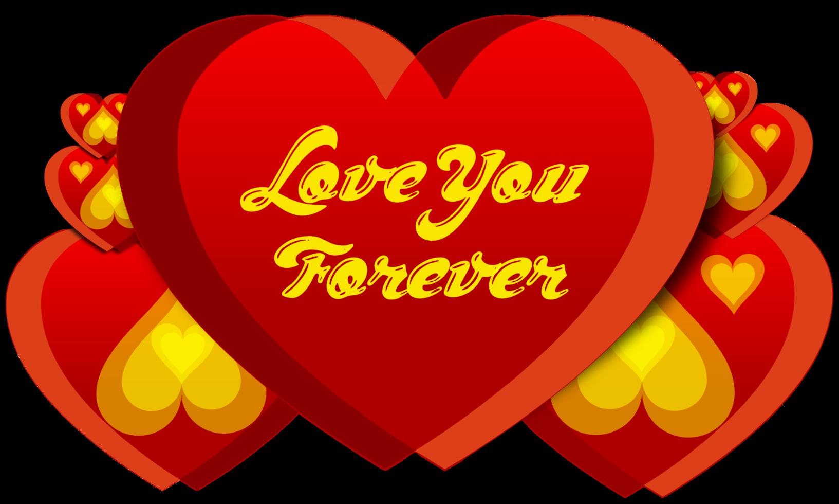 tipografía de corazón de amor png