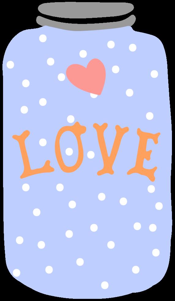 Love jar png