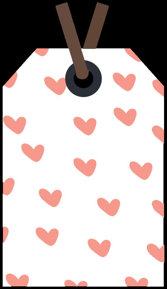 étiquette d'amour png
