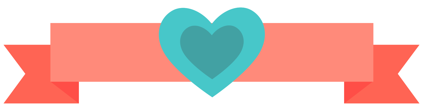 bannière coeur png