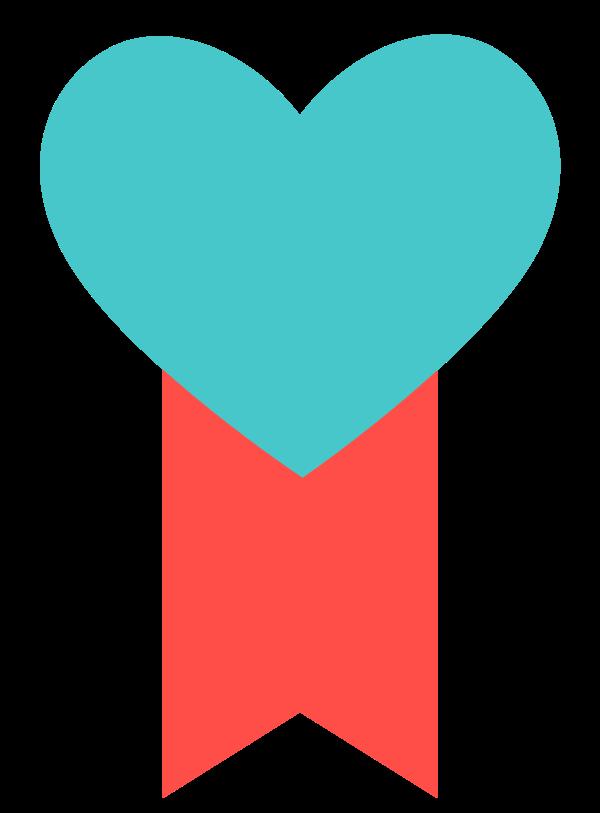 bandera del corazon png