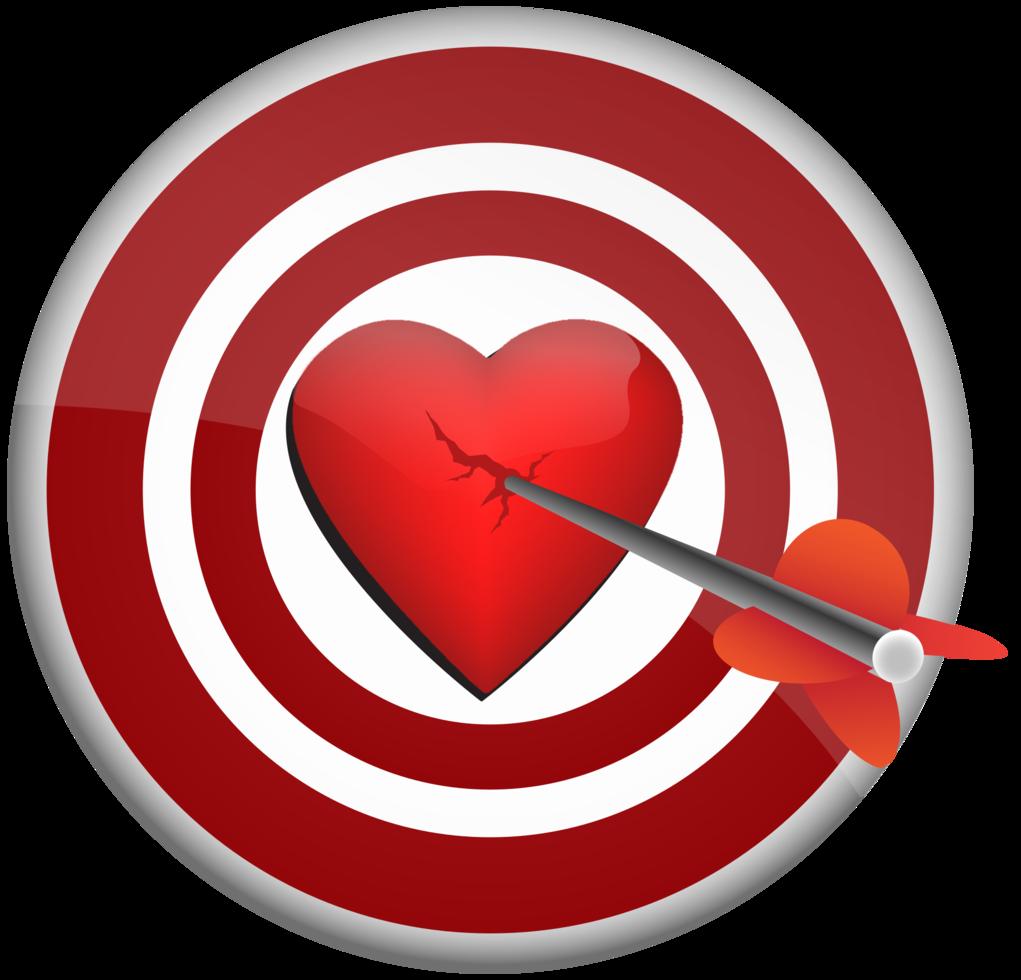 corazón con dardo png
