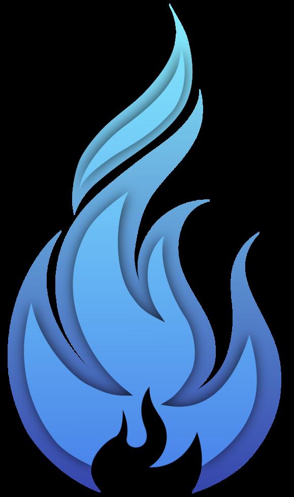 blauw vuur png