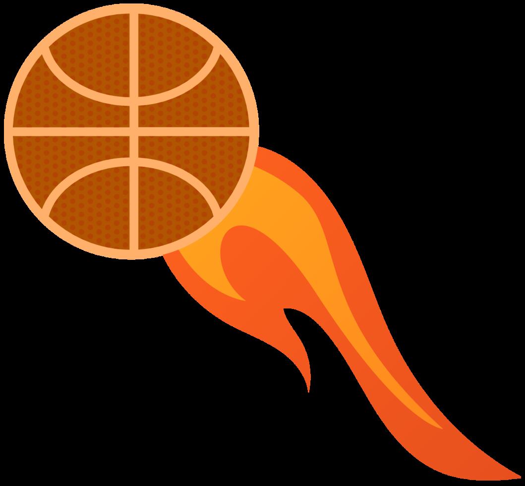 basquete em chamas png