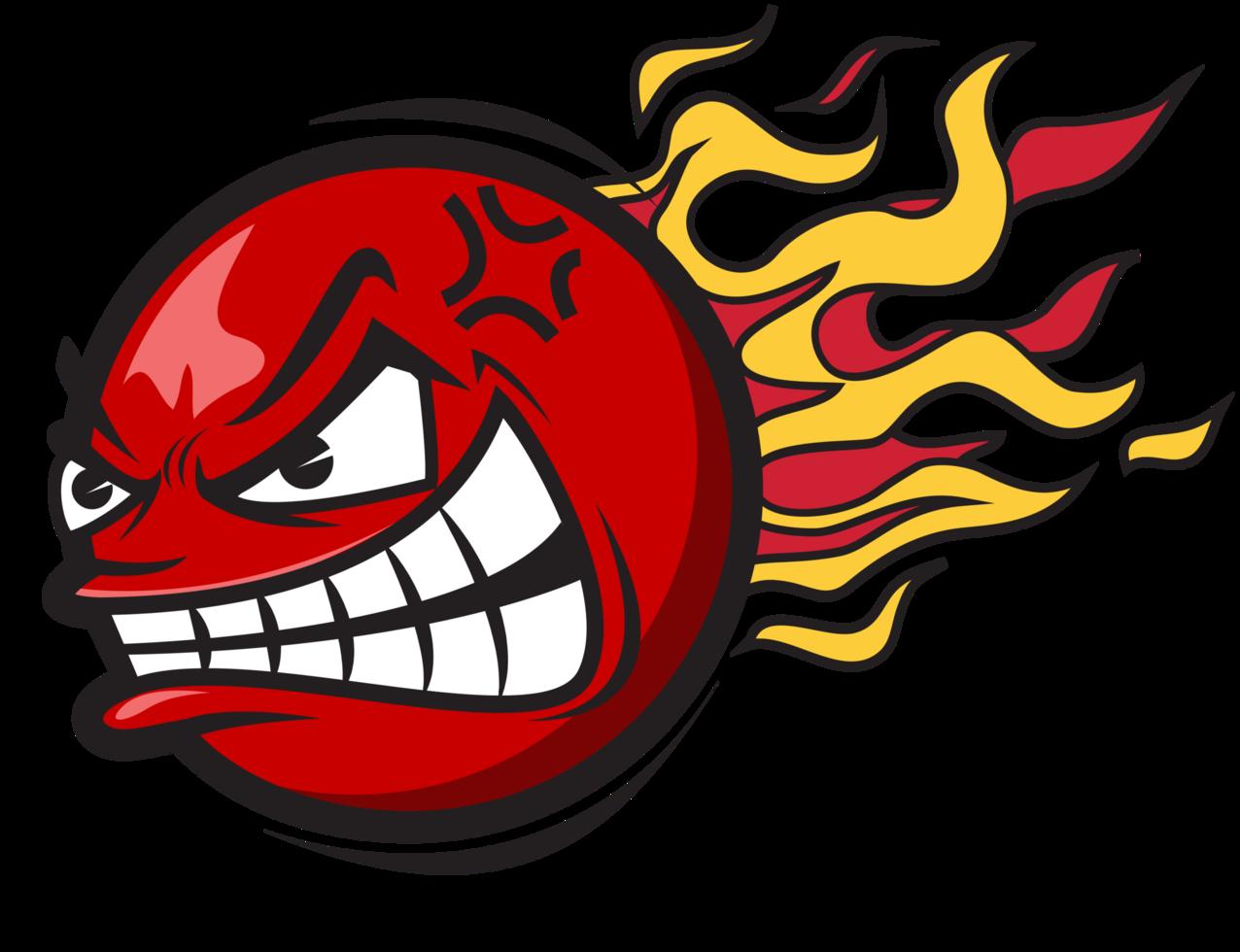 bola em chamas png
