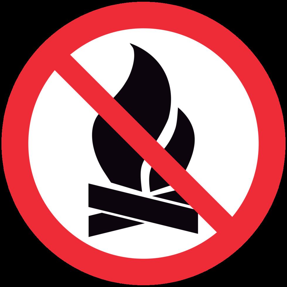 nenhum sinal de fogo png