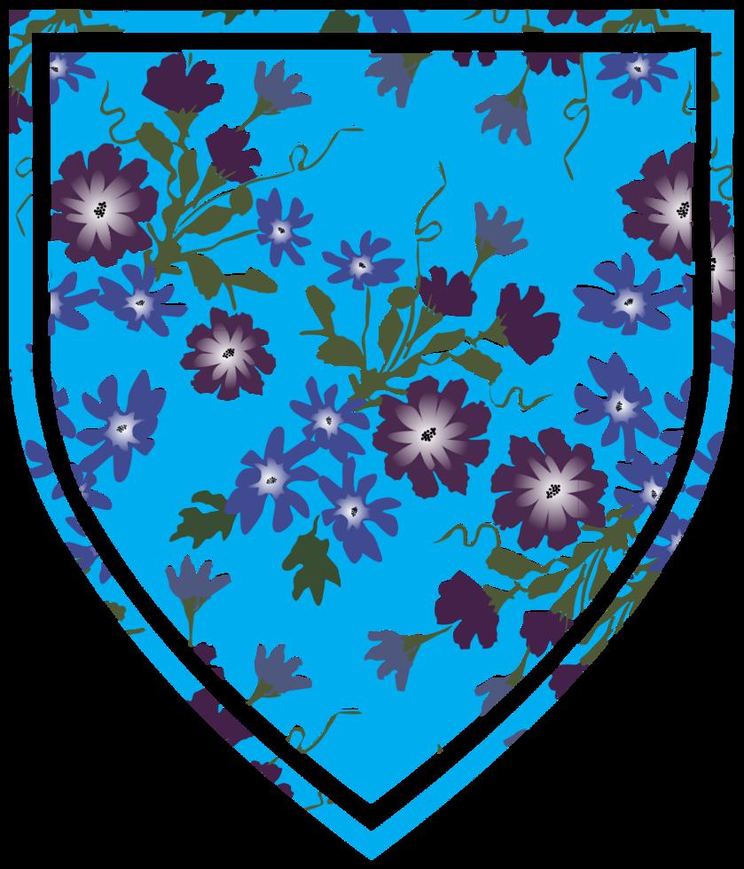 scudo a forma di decorazione floreale png