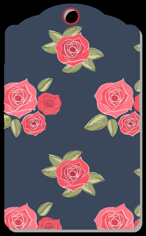 etiqueta de la flor png