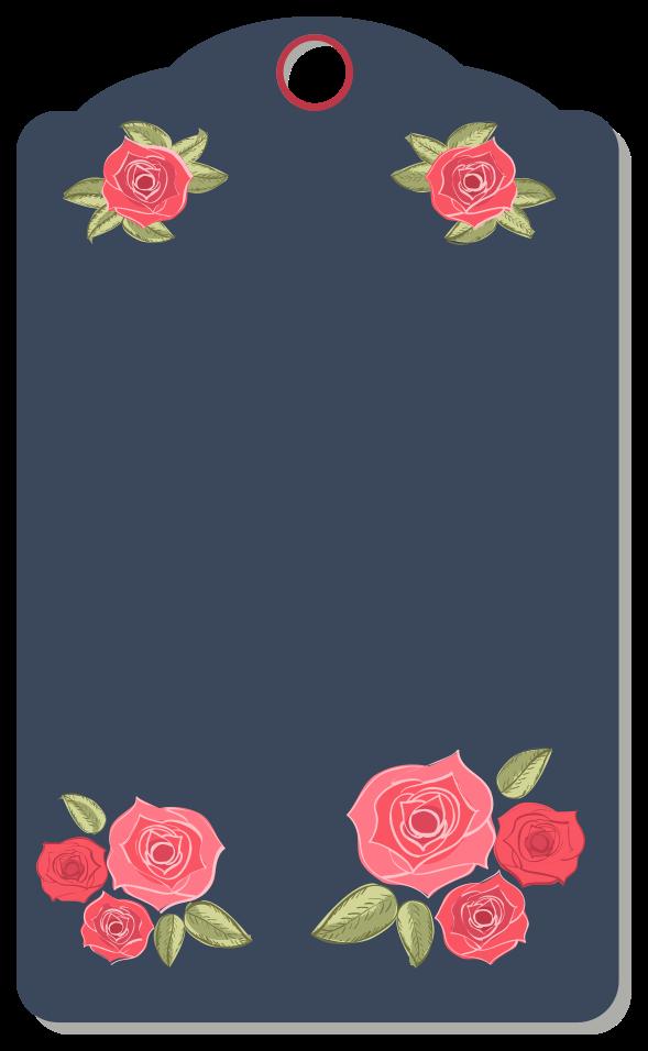 blomma etikett png