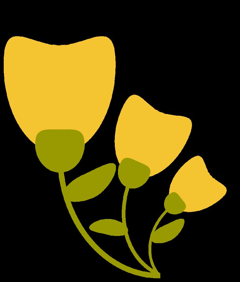 fleur rétro png