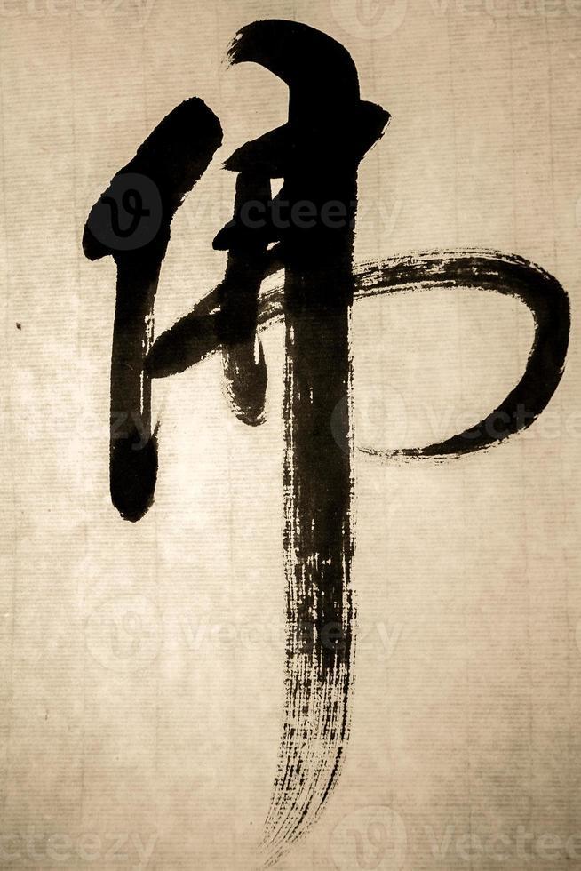 """""""Buddha"""" in Chinese calligraphy photo"""