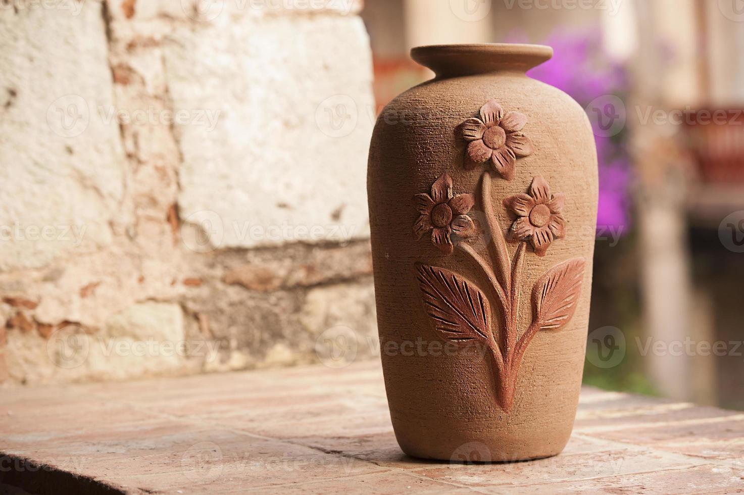 Clay vase photo