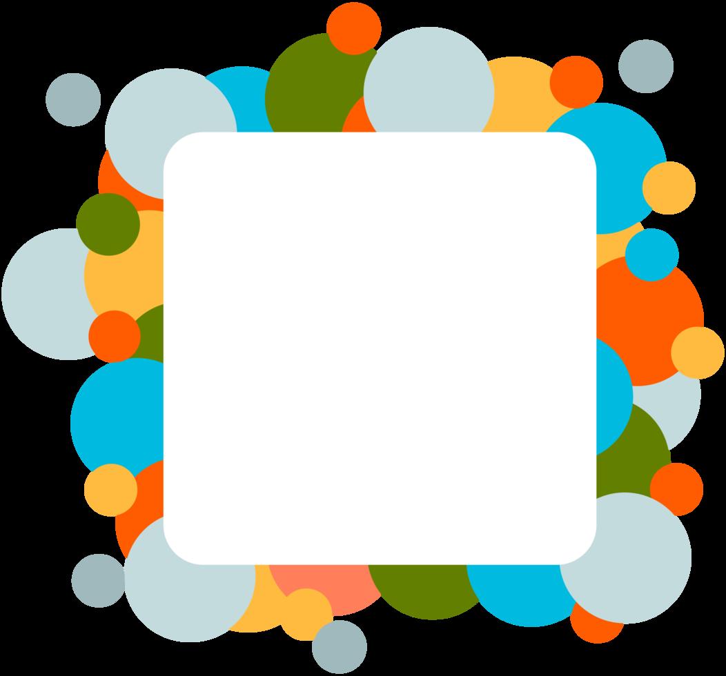 fundamento de círculo colorido png