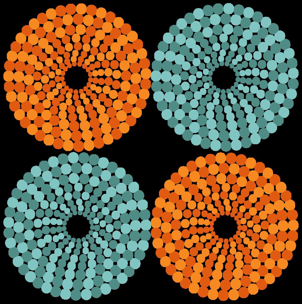 padrão de pontos do círculo png