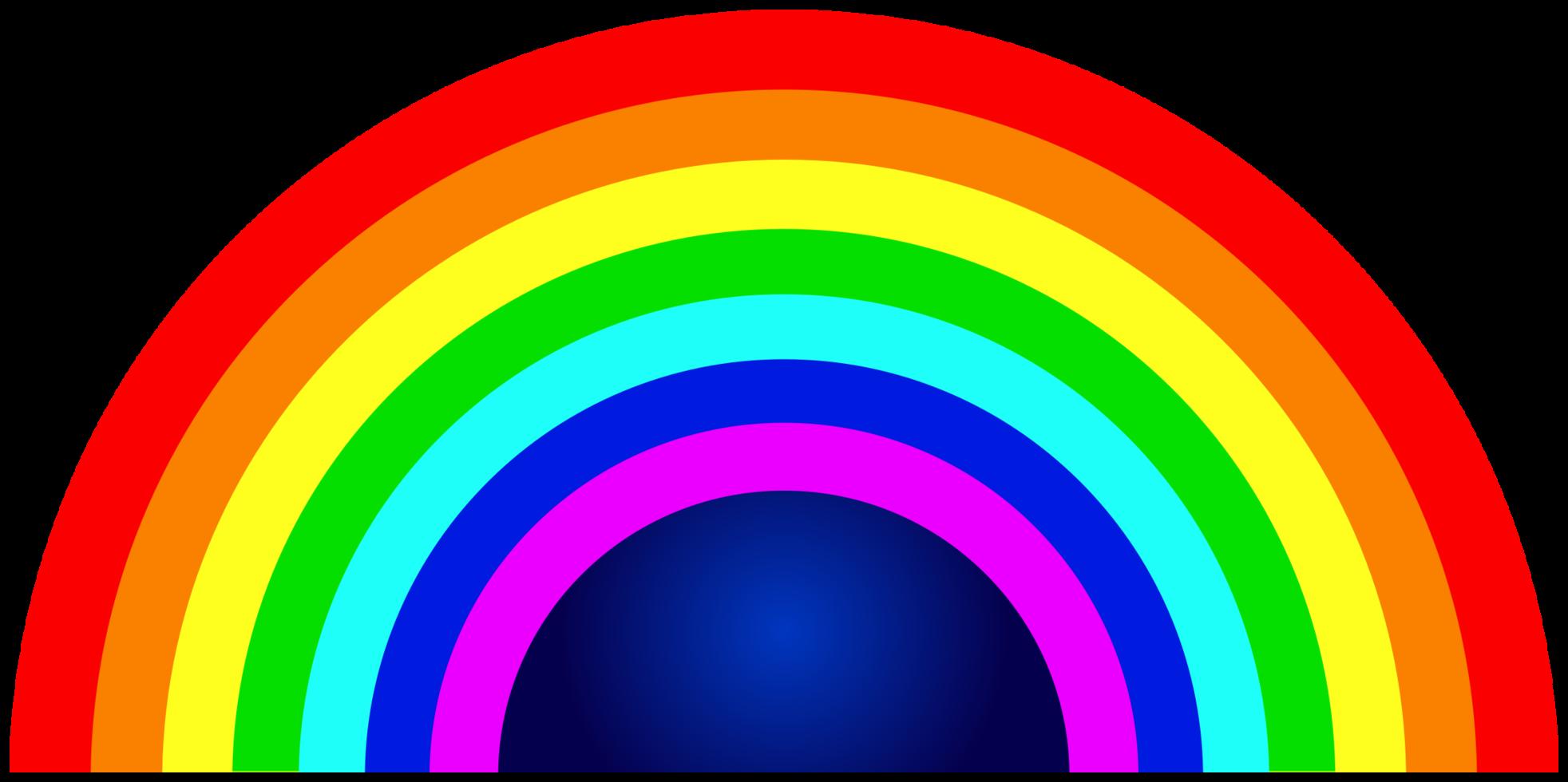 arc-en-ciel demi-cercle png