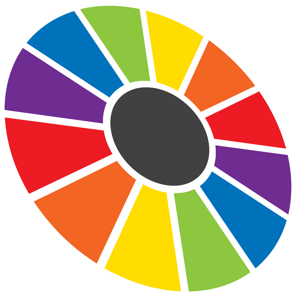 ruota che gira arcobaleno png