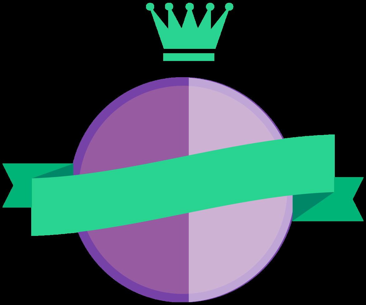 badge con nastro png
