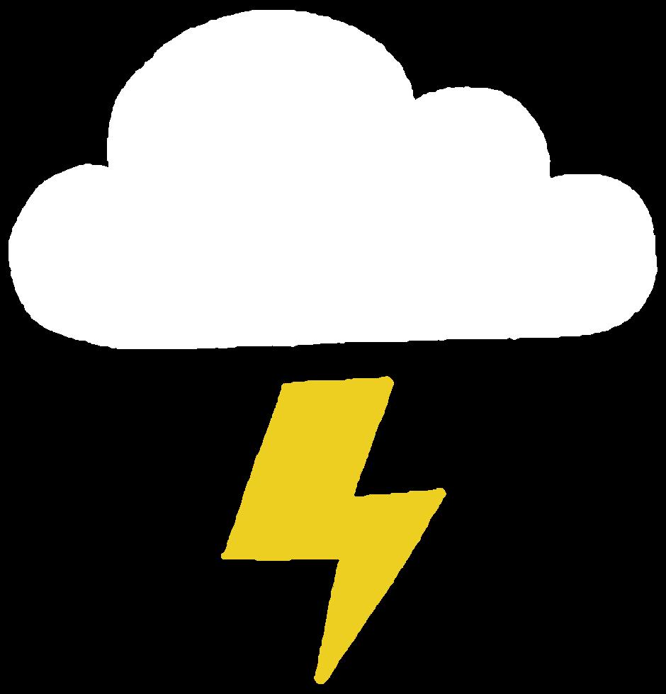 Blitz und Wolke png