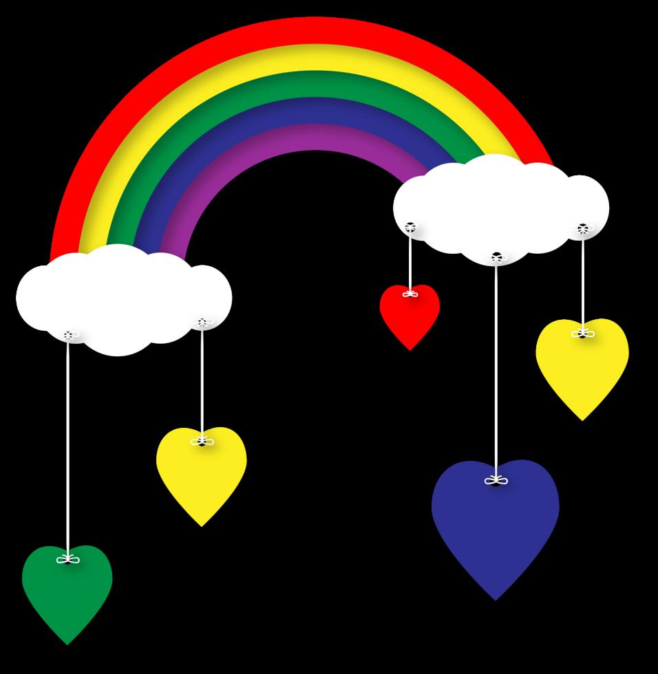 regnbåge och moln png