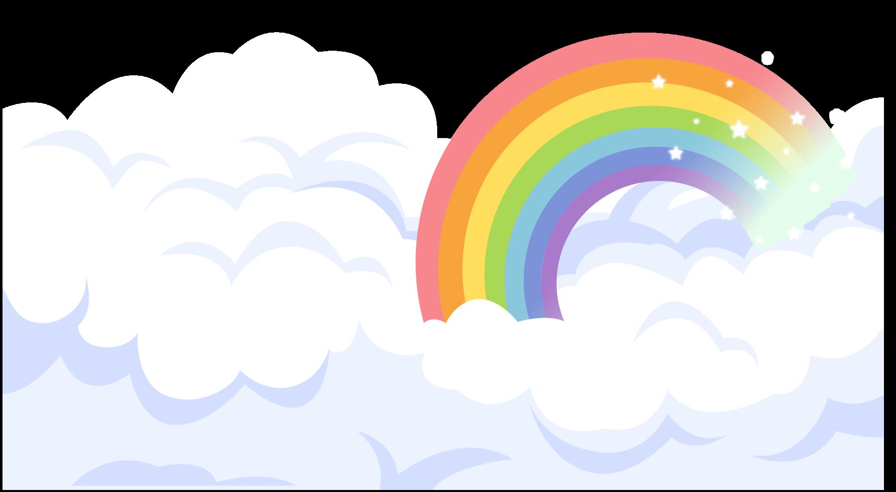 arc-en-ciel et nuage png