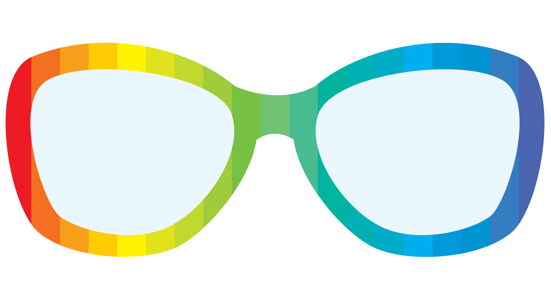 regnbågsglasögon png