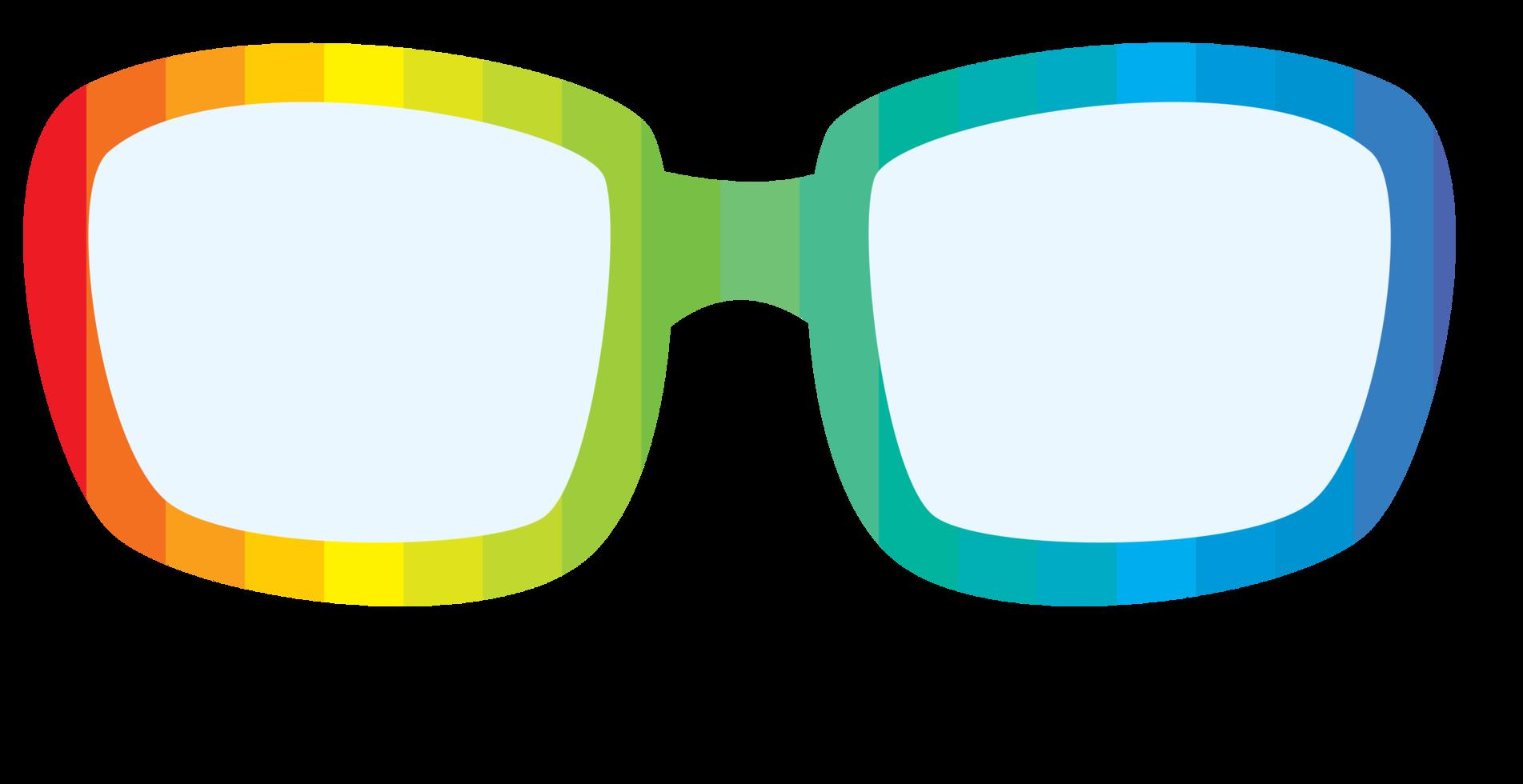 Regenbogenbrille png
