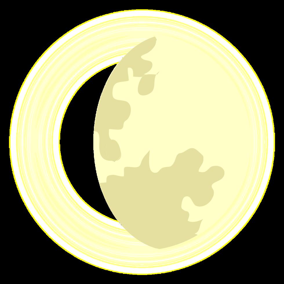 luna creciente gibosa png