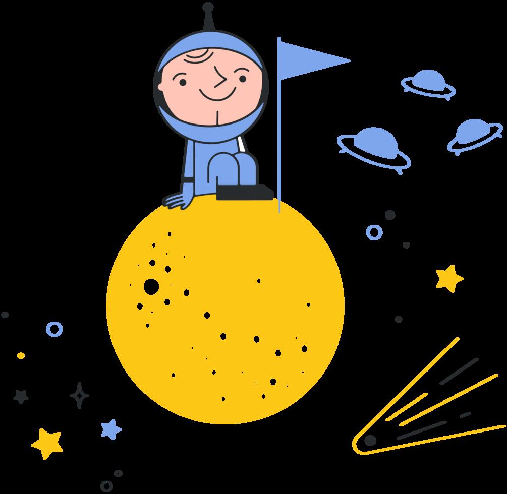 astronauta na lua png