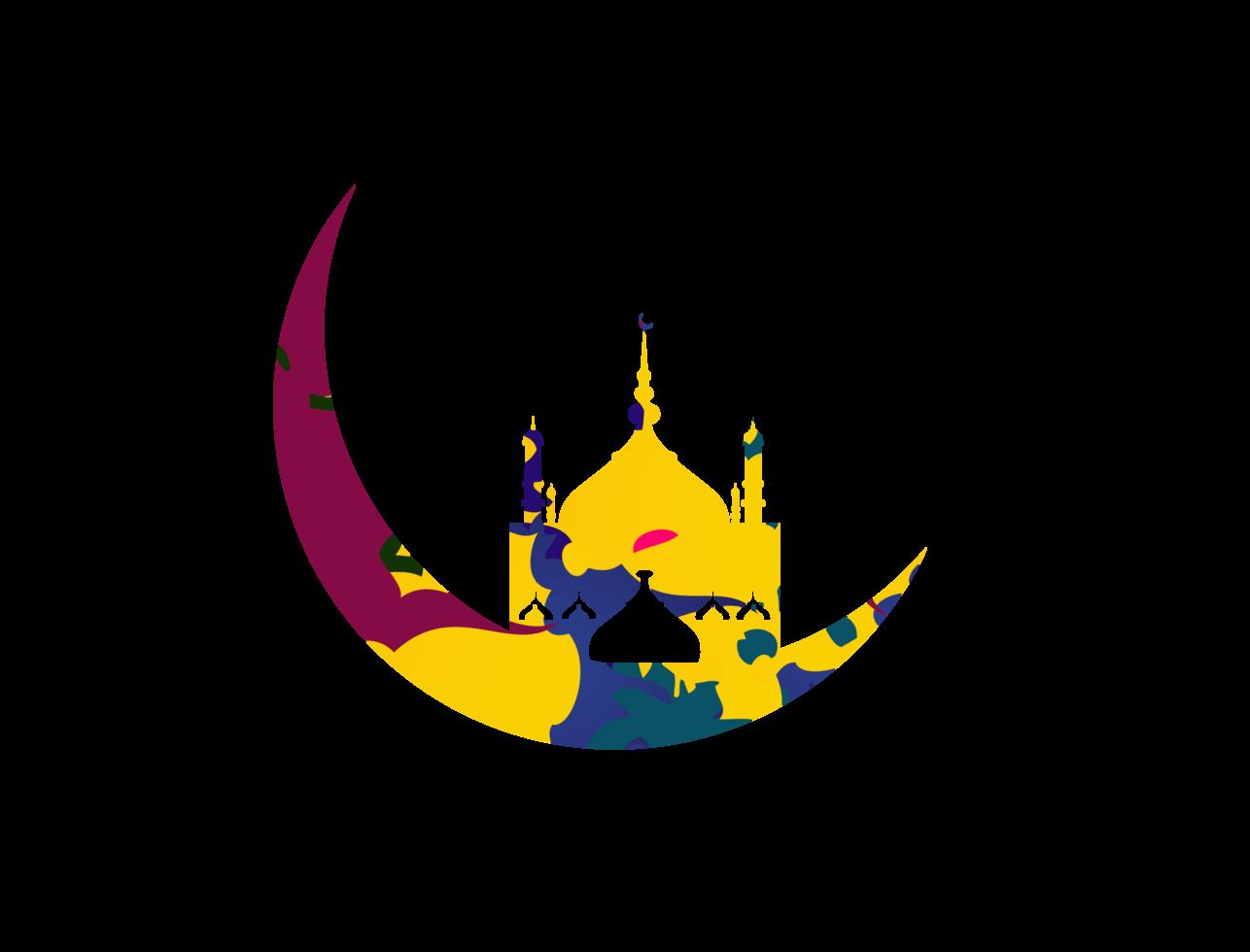 lua crescente do ramadã png